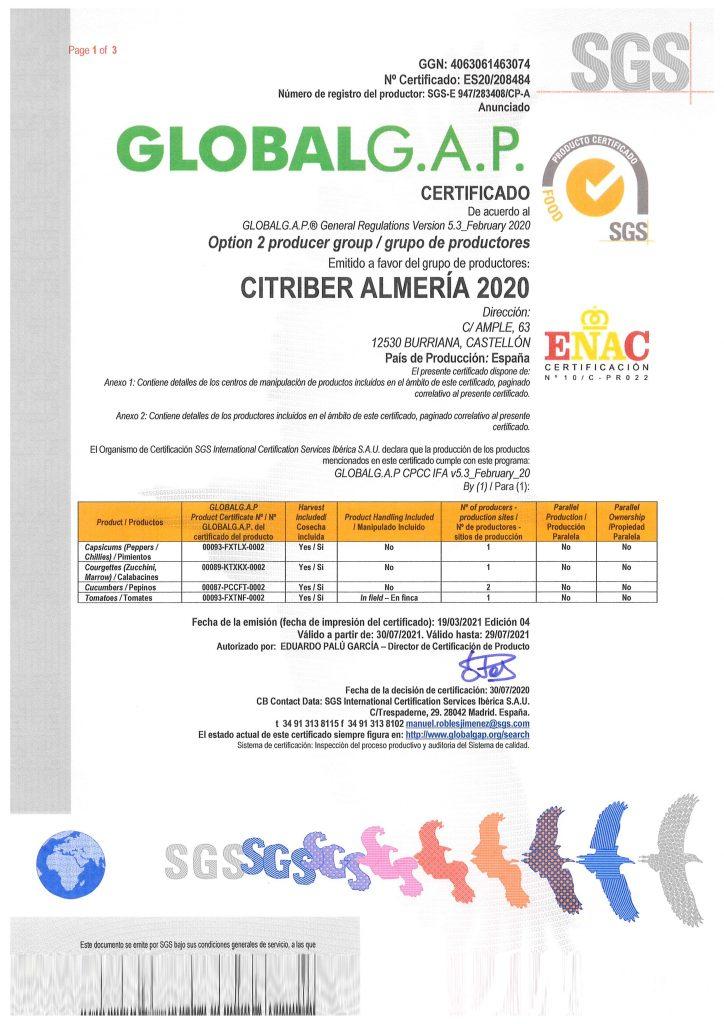 globalgap almeria
